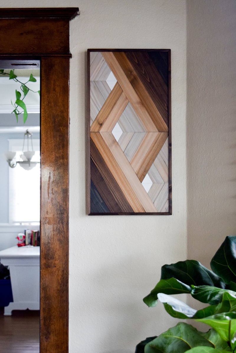 PORTAL in White Wood Wall Art Hanging - Wooden Wall Art - Art Deco Art - Modern Wood Art - Geometric Wood Art - Esoteric Art