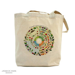 Jessica Haas Designs Colorado Seasonal Grocery Tote Bag