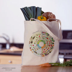Jessica Haas Designs Massachusetts Seasonal Grocery Tote Bag