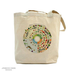 Jessica Haas Designs Illinois Seasonal Grocery Tote Bag