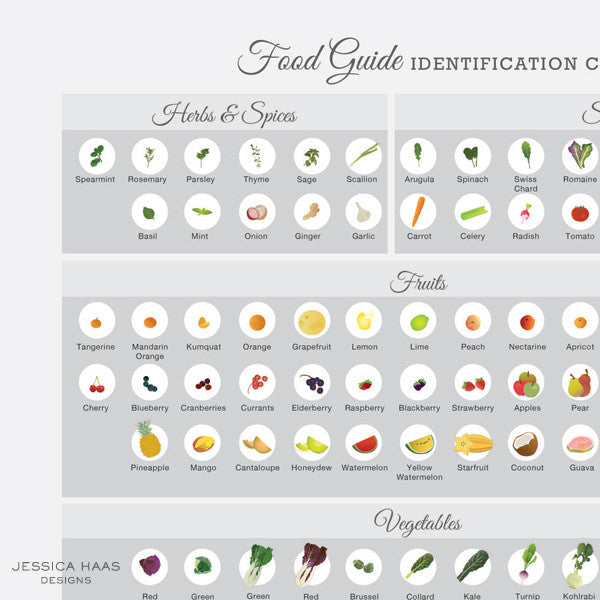 Food Guide Identification Chart (Printable)