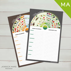 Massachuetts Menu & Grocery Planner Sets
