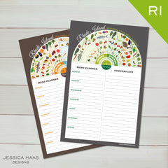 Rhode Island Menu & Grocery Planner Sets