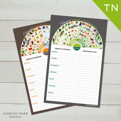 Tennesee Menu & Grocery Planner Sets