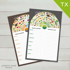 Texas Menu & Grocery Planner Sets