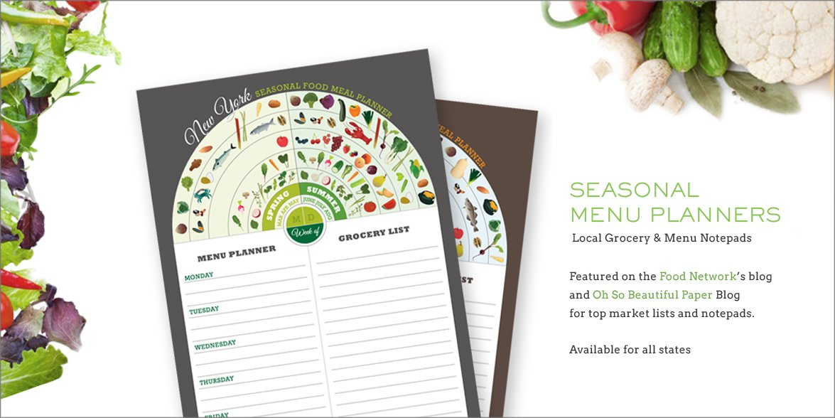Seasonal Menu Planners