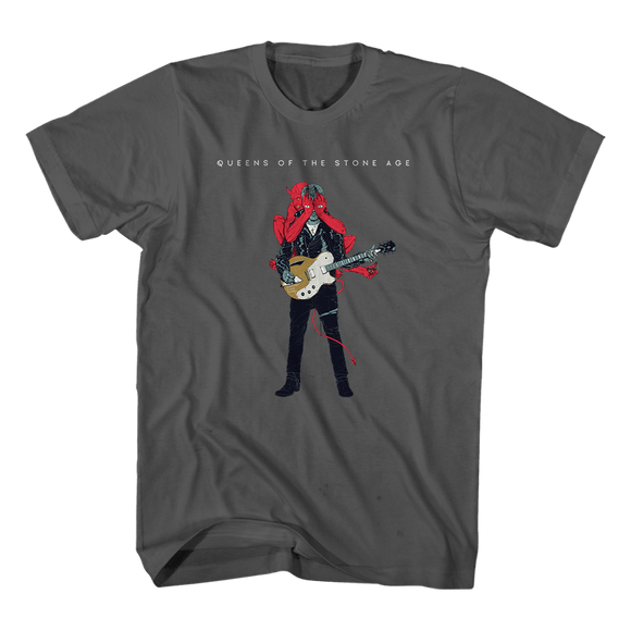 Josh Villains Charcoal Tee - Queens of the Stone Age