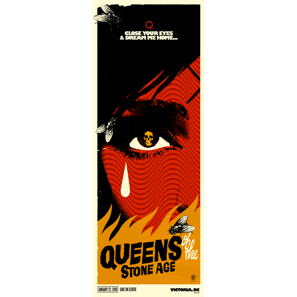 Victoria, BC Event Poster - Queens of the Stone Age