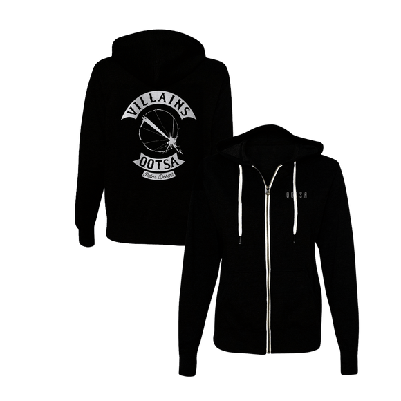 Villains Biker Zip-Up Hoodie - Black - Queens of the Stone Age