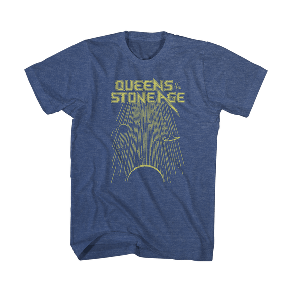 Meteor Shower Tee (Heather Navy) - Queens of the Stone Age