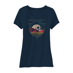 Planet Skull Tee (Navy) - Queens of the Stone Age