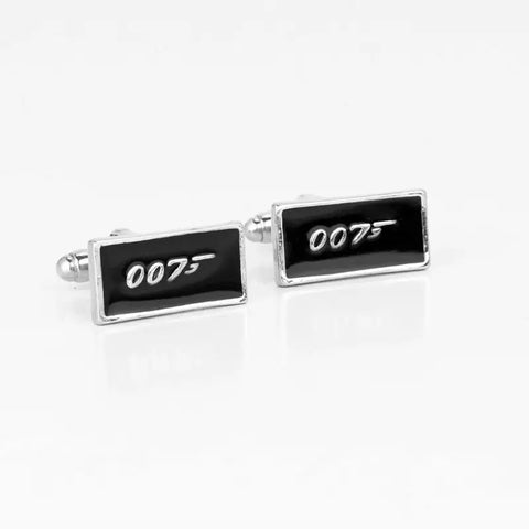 James Bond 007 Cufflinks Tie Clip Set