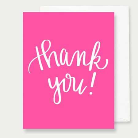 Thank You - A2 Greeting Card - FabFunBride