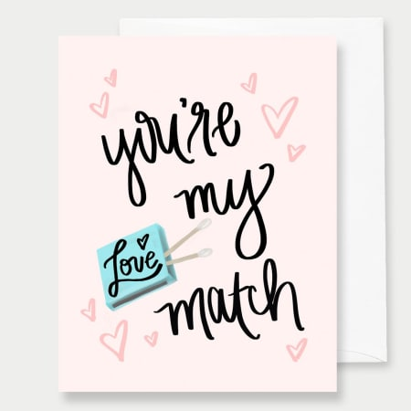 You're My Match - A2 Greeting Card - FabFunBride