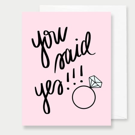 You Said Yes - A2 Greeting Card - FabFunBride