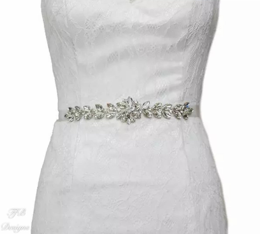 Bridal Sash with Austrian Crystal - FabFunBride