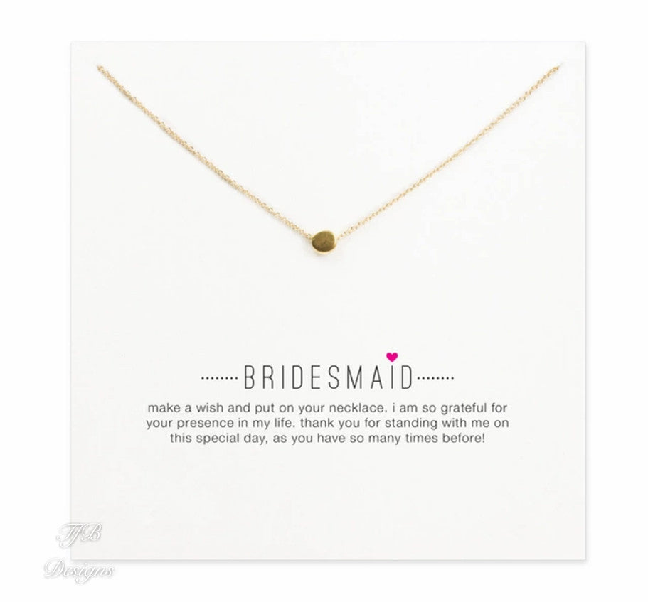 Bridesmaid Necklace with Card - FabFunBride
