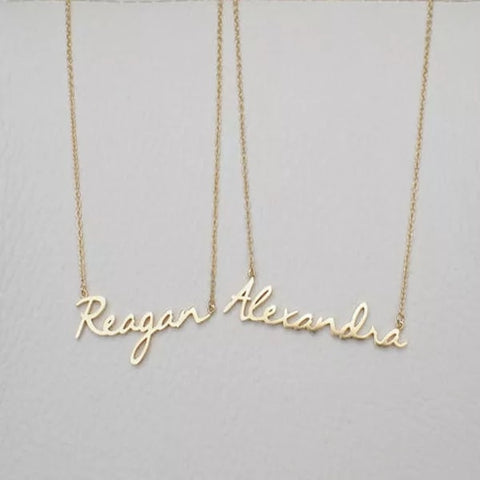 Custom Name Necklace 3 Tones - FabFunBride