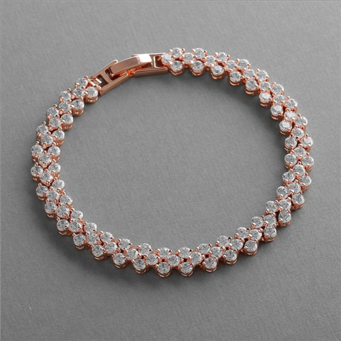 Rose Gold Bracelet Bridesmaid Jewelry Bridal Jewellery - Romana