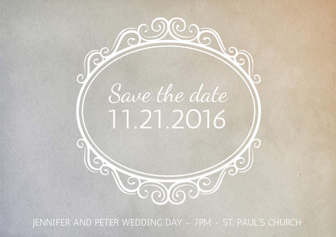 Save the Date #02991 - FabFunBride