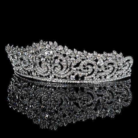 Bridal Headpiece Wedding Tiara Crown, - FabFunBride
