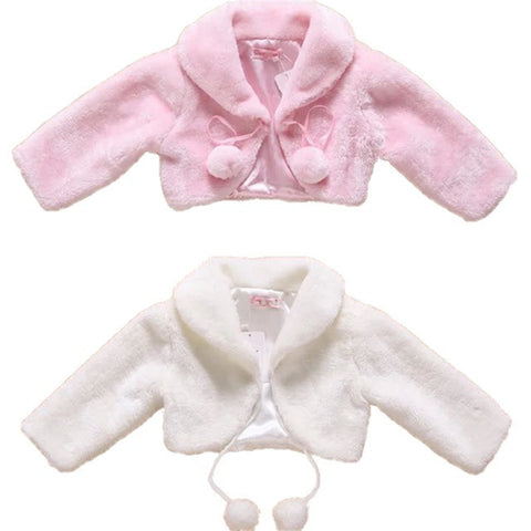 Flower Girls Wedding Faux Fur Jacket Evening - FabFunBride