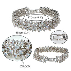 BELLA 2016 Elegant Wedding Bracelet Accessories Sparkling Cubic Zircon Bridal Tennis Bracelets Women Jewelry Gift - FabFunBride