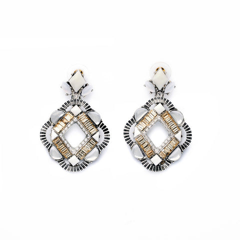 Unique Art Deco Earrings - FabFunBride
