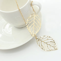 Simple leaf necklace, unique design perfect for gifts - FabFunBride