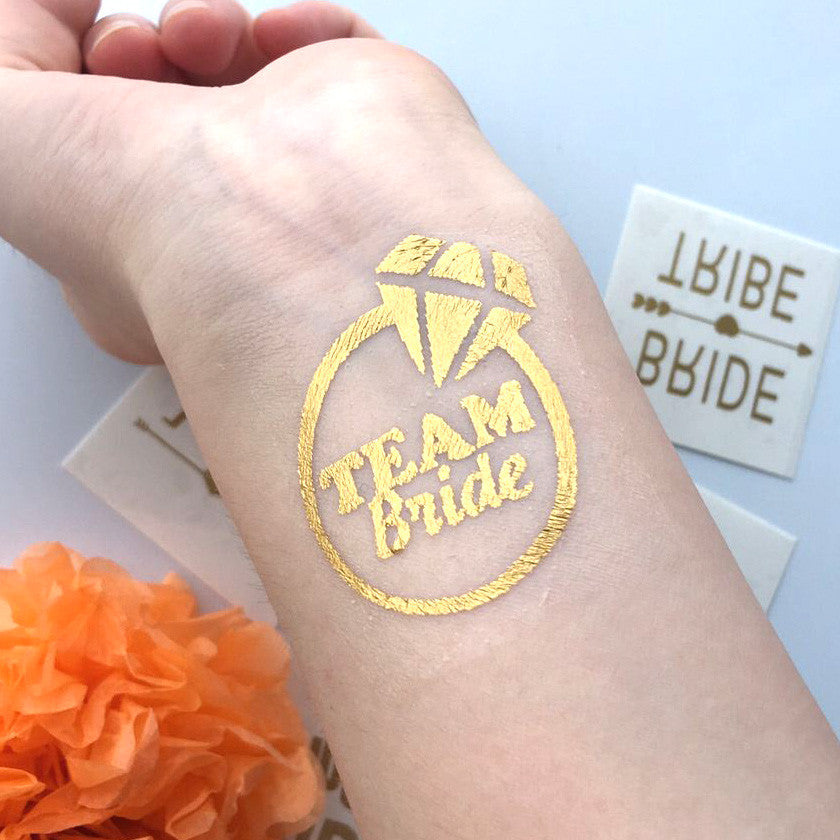 1pcs team Bride Diamond Temporary Tattoo bachelorette favor - FabFunBride