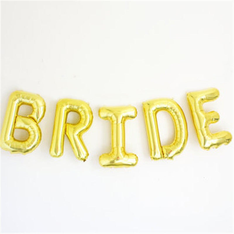 Gold Bride/Bride to be Foil Letters Balloons - FabFunBride