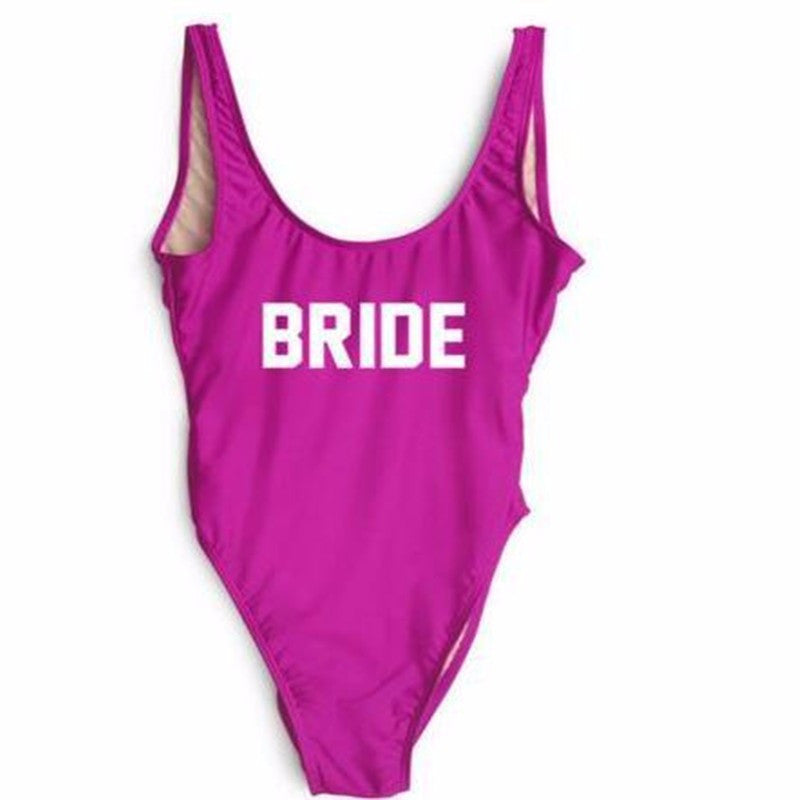 BRIDE Backless Brazilian Monokini Sexy Swimsuits One Piece - FabFunBride