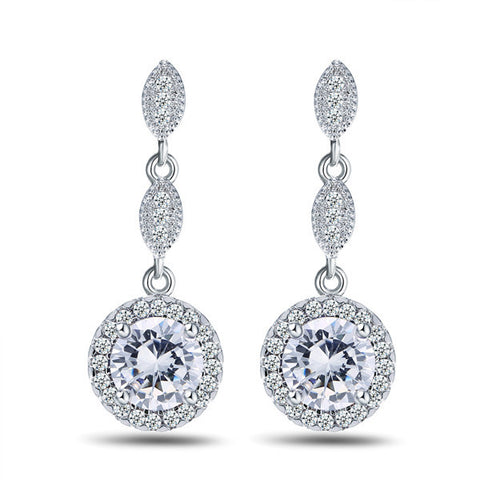 Messina Water Drop Earrings - FabFunBride