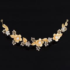 Bridal Crystal Vine Comb Hairpiece Floral Headband - FabFunBride
