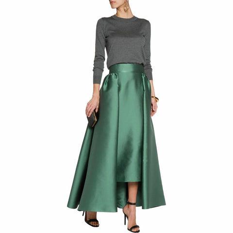 Ankle Length Satin Skirts Mother of the Bride - FabFunBride