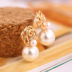 Ear Stud Pearl Earrings - FabFunBride