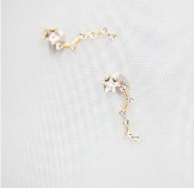 Small Climber Crystal Earrings - FabFunBride