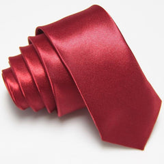 Solid Slim Ties necktie Polyester 36colors Groom/Groomsmen - FabFunBride