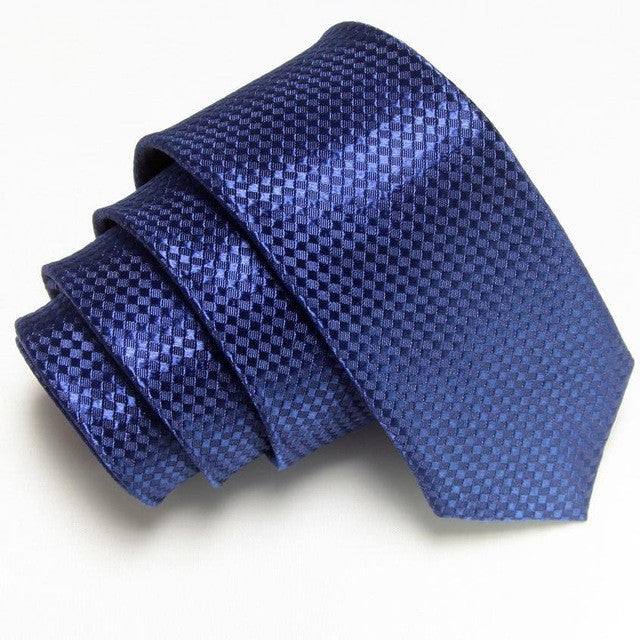 Slim Skinny Tie Men's solid Polyester 19 colors high quality Groomsmen/Groom - FabFunBride