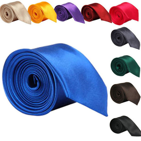 5cm Classic Skinny Slim Ties Solid Color 20 Colours - FabFunBride