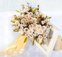 Unique Bouquet Ivory White - FabFunBride