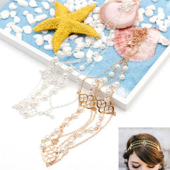 Pearl Head Chain Hairpiece - FabFunBride