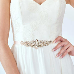 Bridal gown belt sash luxury - FabFunBride