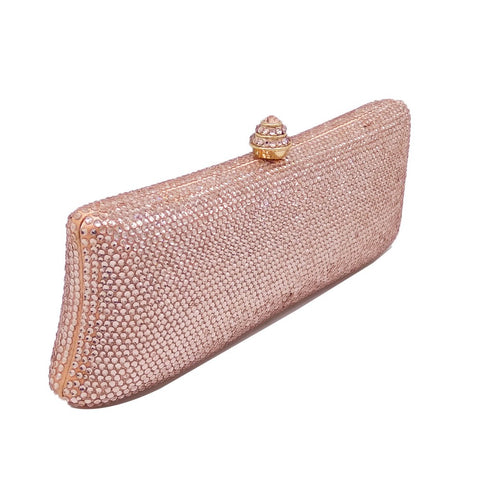 Champagne Crystal Evening Clutch - FabFunBride