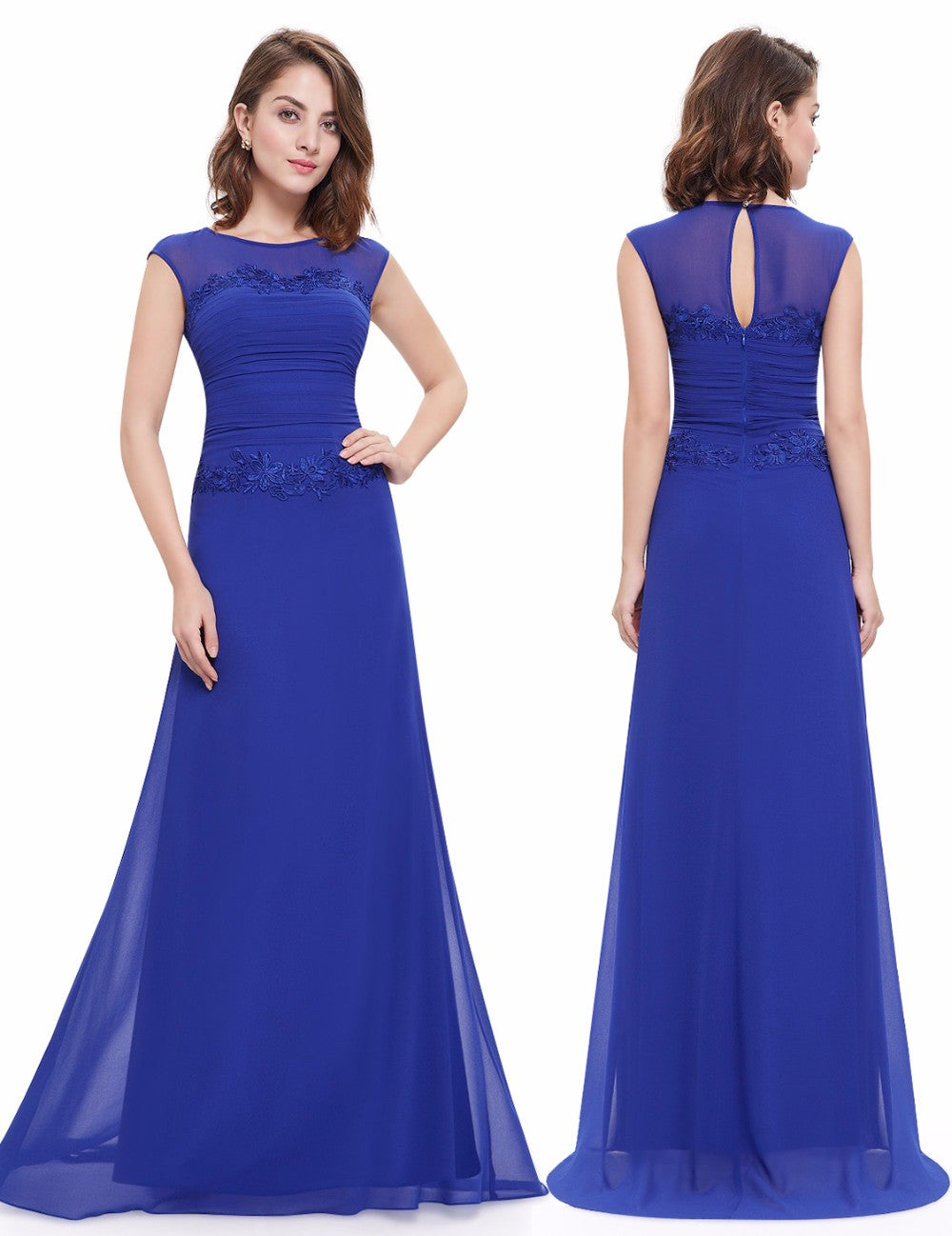 Elegant Bridesmaid Dress with Lace - FabFunBride