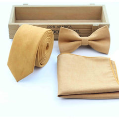 Skinny Solid Color Micro Suede Pocket Square Handkerchief - FabFunBride
