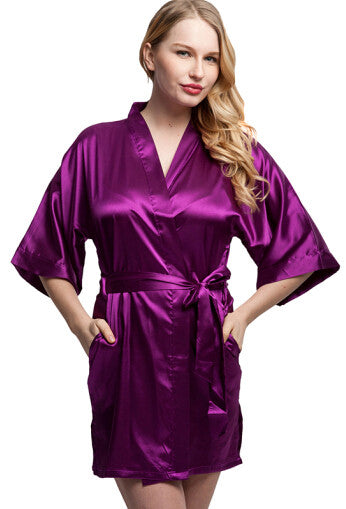 Solid Short Bridesmaids Robes - FabFunBride