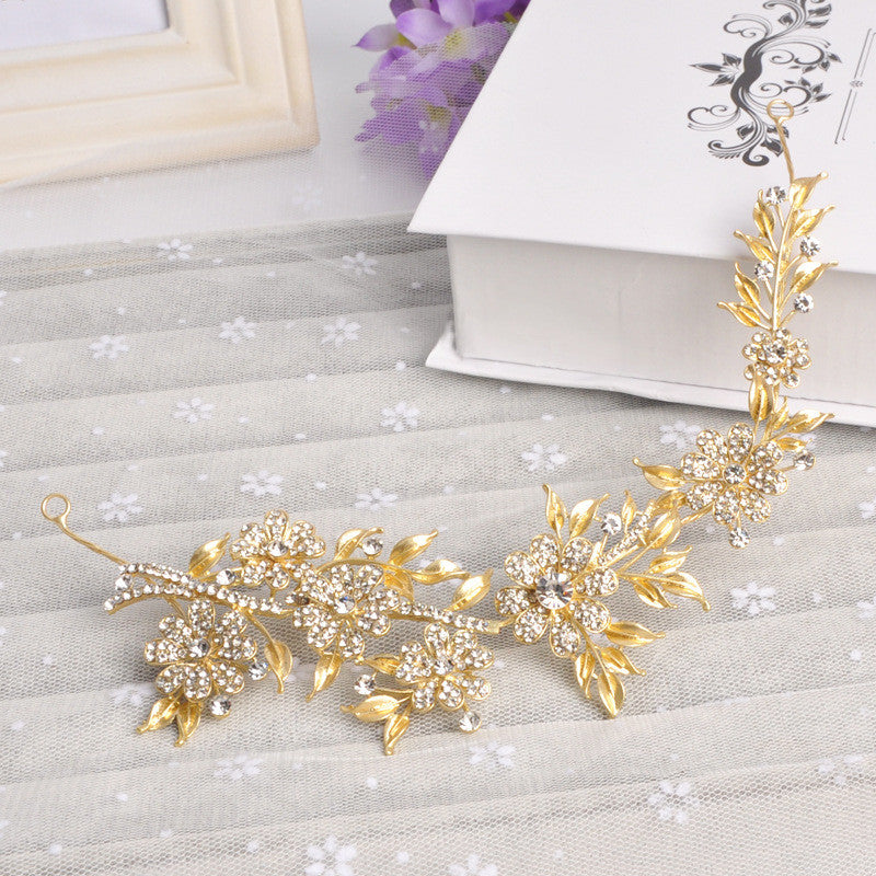 Gold Leaves crystal Vintage Bridal Hair - FabFunBride