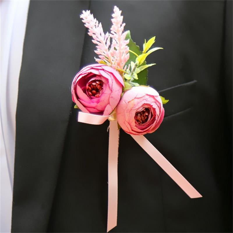 Flower Groom Groomsman Boutonnieres Pin Brooch Father Best Man - FabFunBride