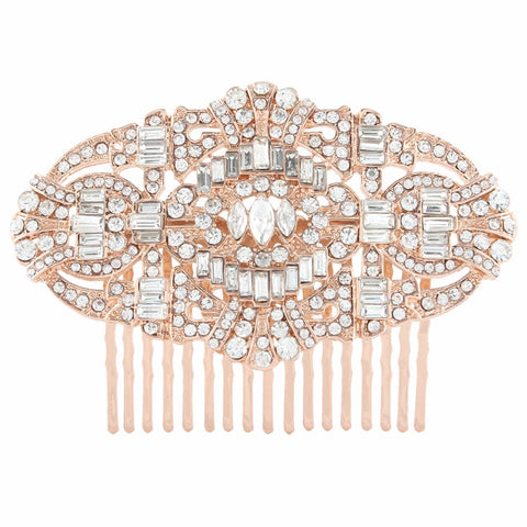 Copy of Rose Gold Crystal Luxury Hair Comb - FabFunBride